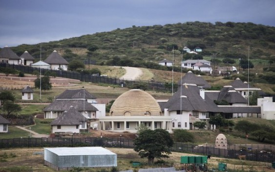 An aerial view of President Jacob Zuma's Nkandla residence. Credit: AFP